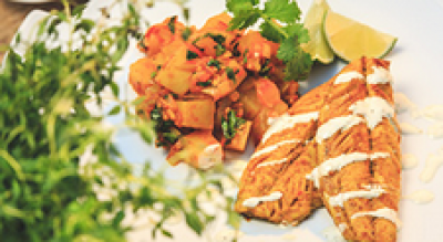 CURRY-SPICED GRILLED MACKEREL